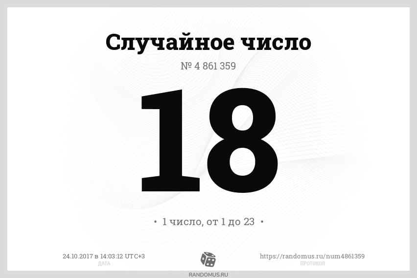 Случайное число № 4861359