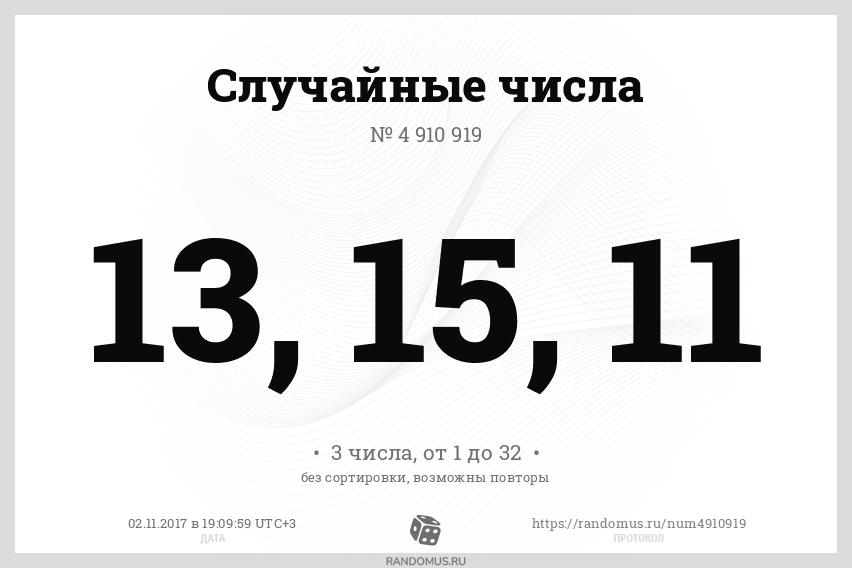 Случайные числа № 4910919