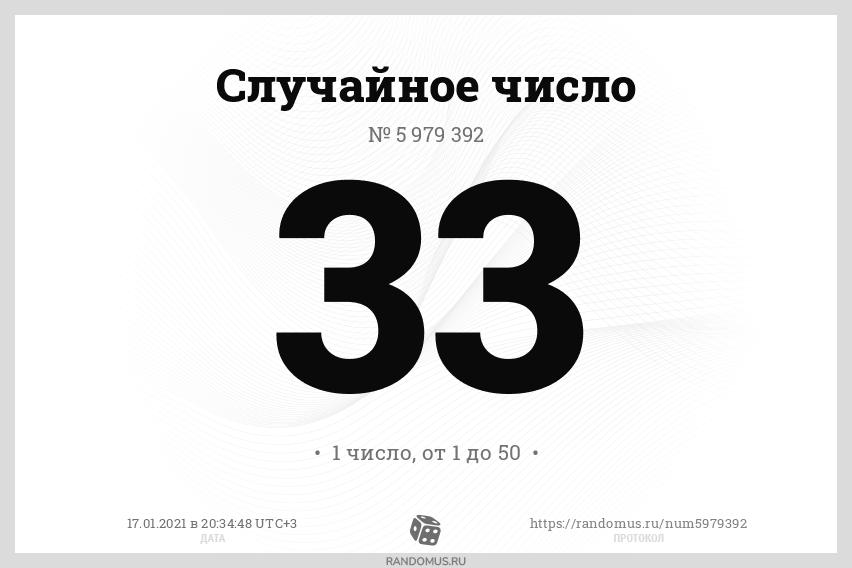 Случайное число № 5979392